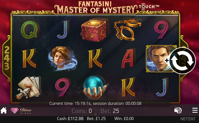 The 'Fantasini: The Master of Mystery' – A Slot Game from NetEnt, large view