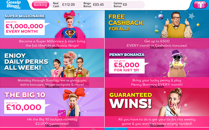 The Full List of Promotions at Gossip Bingo , large view