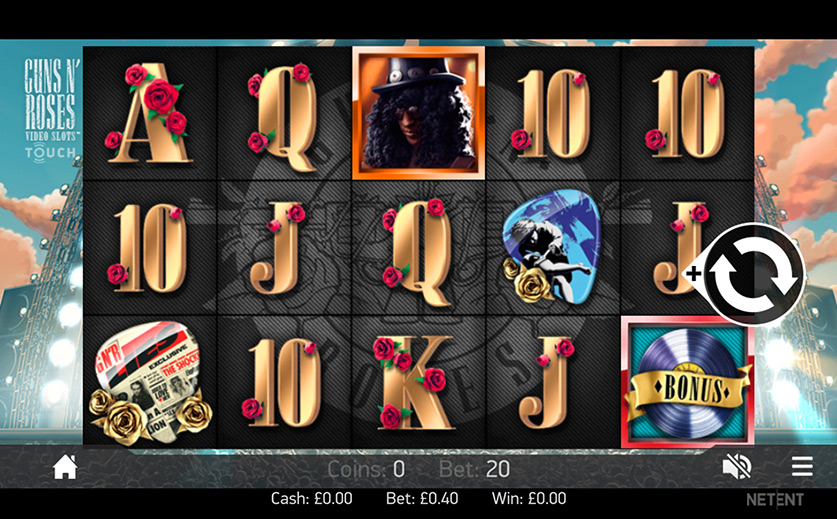 Spin the 'Guns N' Roses' Video Slot, large view
