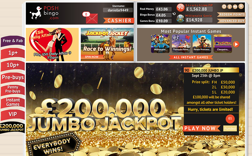 One of the huge jackpot deals at Posh, large view