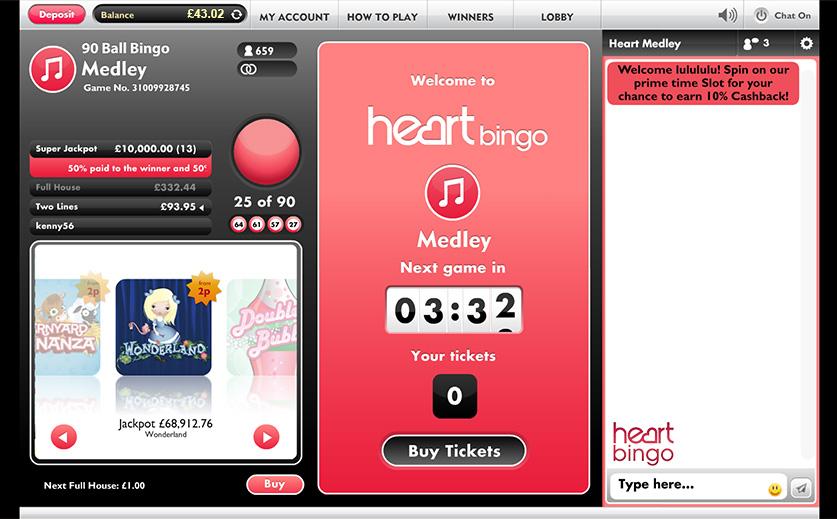 Heart Bingo Review – Games & Bonus List for Newbies!
