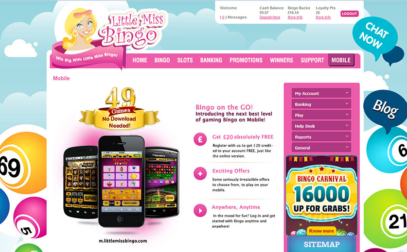 What Does Little Miss Bingo Offer to Mobile Users Large View