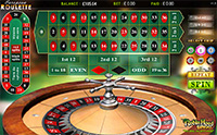 A roulette game at Robin Hood bingo