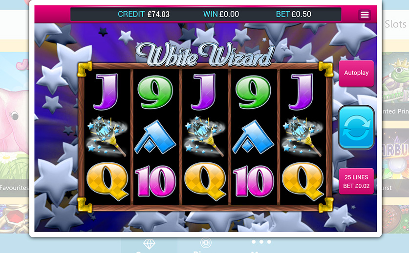 The 'White Wizzard' slot – large view